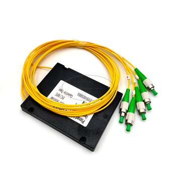 цена на FC APC 1x4 PLC Fiber optical splitter single mode with FC APC connector FTTH FC 1x4 PLC ABS optic splitter box