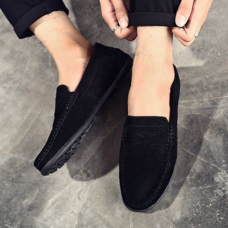 New Men Flat Round Toe Loafers Soft Driving Moccasin Slip On Casual Shoe Summer