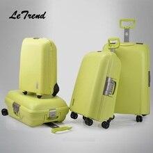 Letrend, высокое качество, женские чемоданы, чемодан на колесиках, Спиннер, пароль, дорожная сумка, 22 дюйма, тележка, модные женские сумки