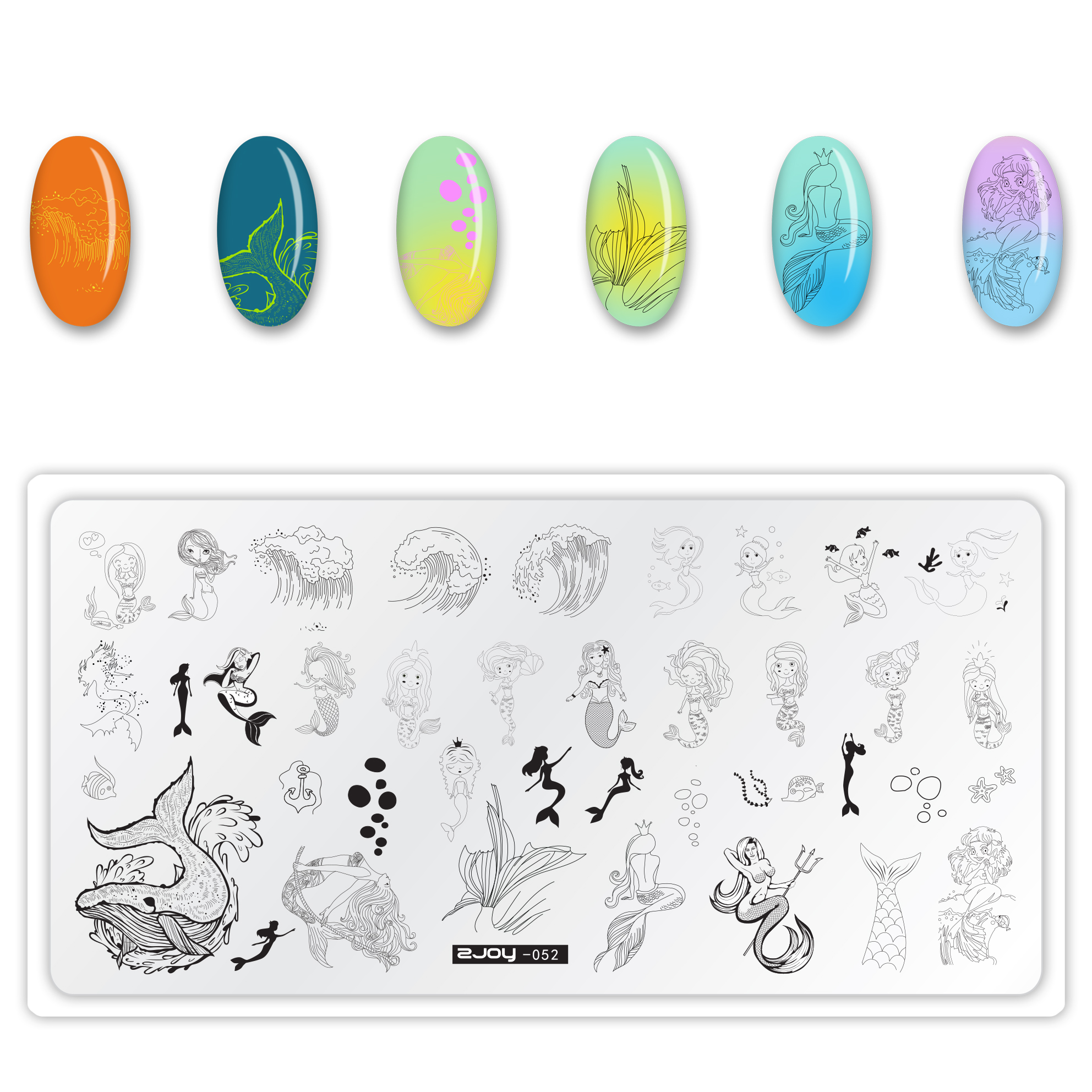 Stainless Steel Nail Stamping Plate Template Whale Butterfly ZJOYS Nail Tool