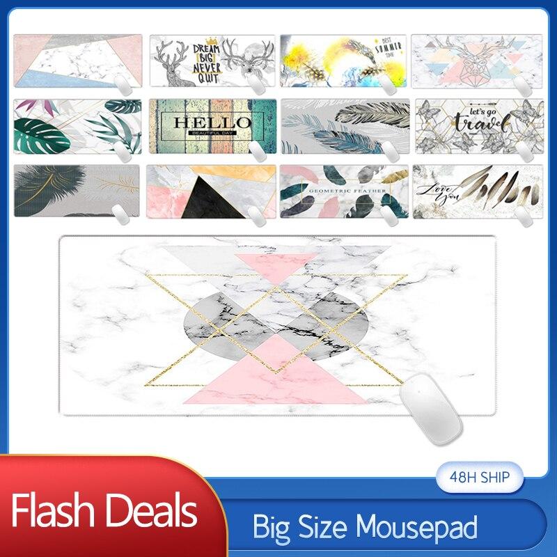 Купить ins модный мраморный коврик для мыши большой размер настольный