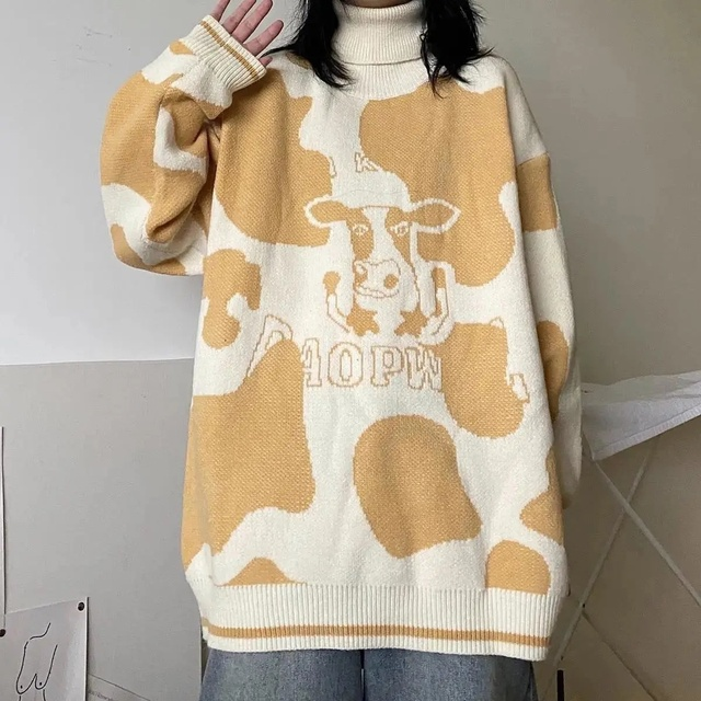 Cute Sweater Pullover Autumn And Winter New Sweet Pullover Sweater Female Student Korean Version Loose Wild Sweater Coat Trend 1