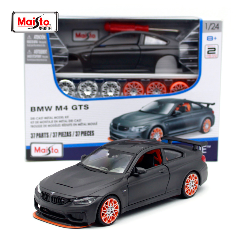 Maisto 1:24 BMW M4 GTS Sports Car Assembled Model Car DIY Diecast Model Car Toy New In Box Free Shipping Adult Toy Collection