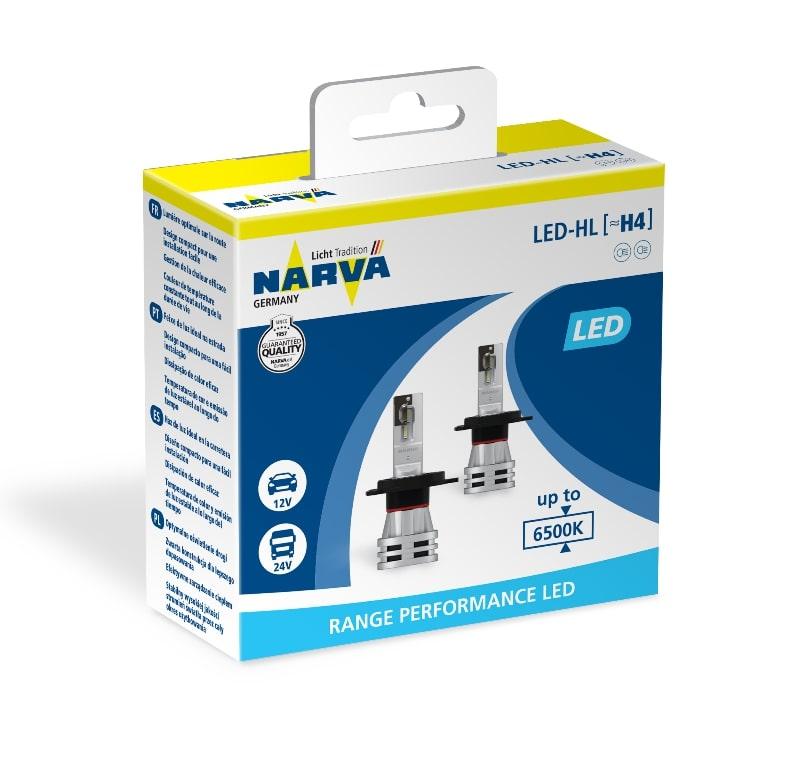Set of LED lamps NARVA 18032 LED H4 ...