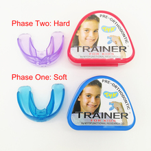 1 set T4K Children Dental Tooth Orthodontic Appliance Trainer for Kids Teeth Alignment Braces Mouthpieces Phase Soft and Hard цена