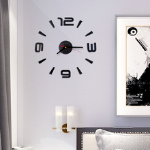 3D Wall Sticker 3D DIY Roman Numbers Acrylic Mirror Clock Home Decor Mural Decals Modern Design Mechanism Kitchen Living Room