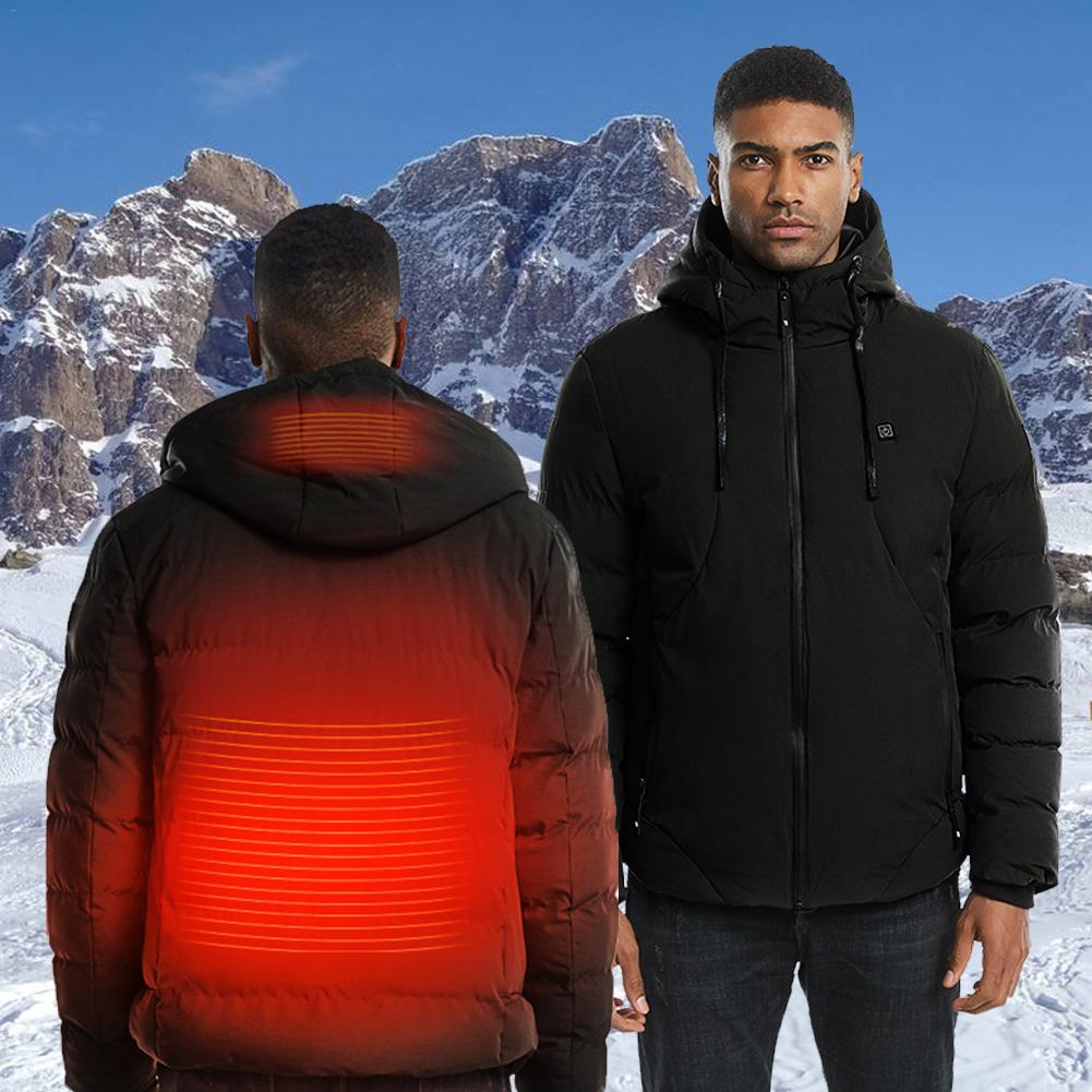 Outdoor Winter Thick USB Heating Cotton Jackets Thermal Clothing For Hiking Fishing Trekking Skiing Coats For Men Women XS-2XL