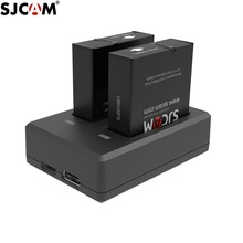 Original SJCAM SJ9 Battery Charger Batteries Dual Charger 1300mAh Rechargeable Li ion Battery SJCAM SJ9 Strike /SJ10 pro Camera