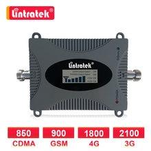 Lintratek amplificador celular dcs 1800mhz 4g repetidor de reforço de sinal gsm 2g 900 3g 4g 1800 2100 telefone móvel internet voz lcd d