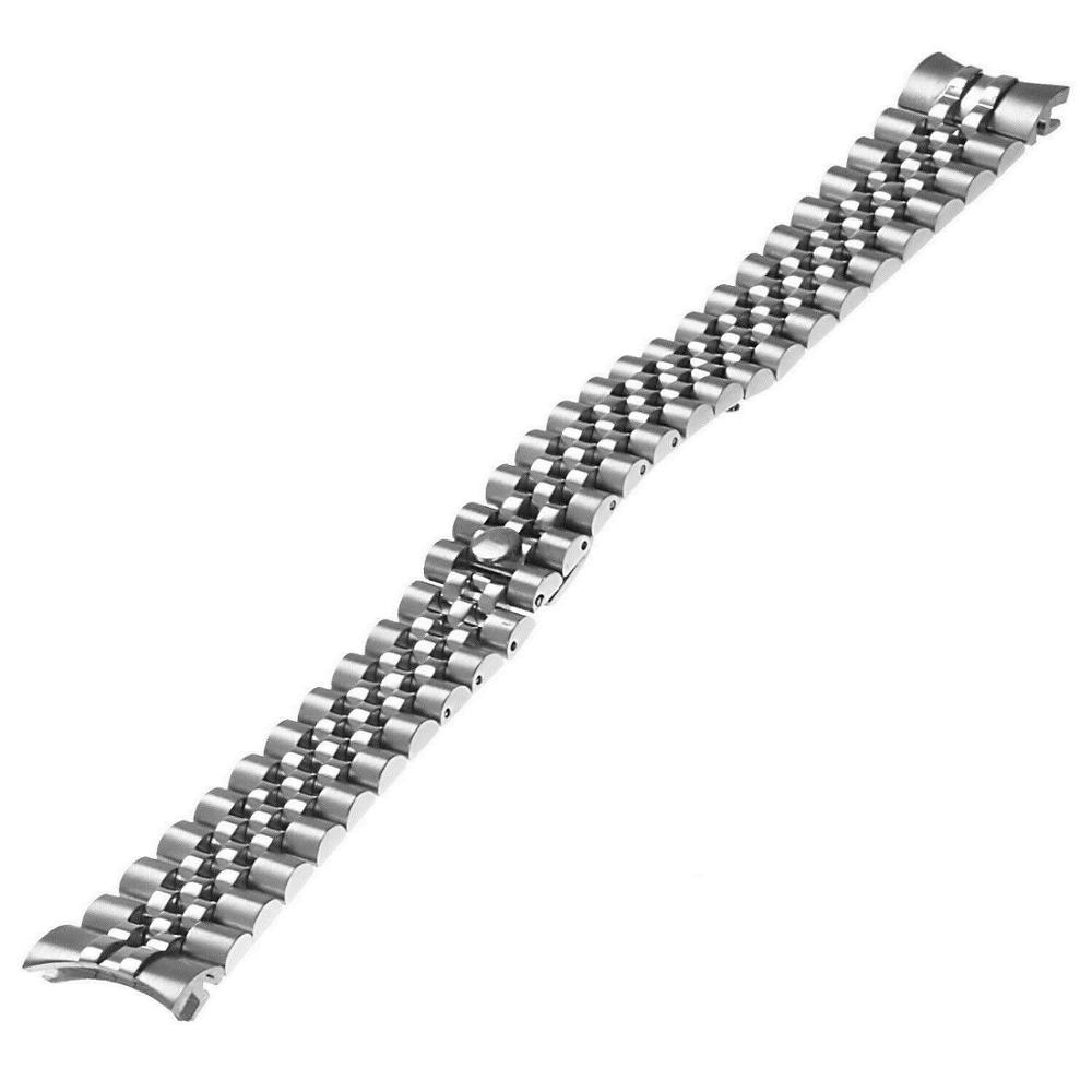 20mm Solid Stainless Steel Jubilee Watch  Band Bracelet Curved End Fit For RLX Watch