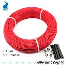 33ohm 12k PTFE огнестойкий нагревательный кабель из углеродного волокна нагревательный провод DIY специальный нагревательный кабель для отопления