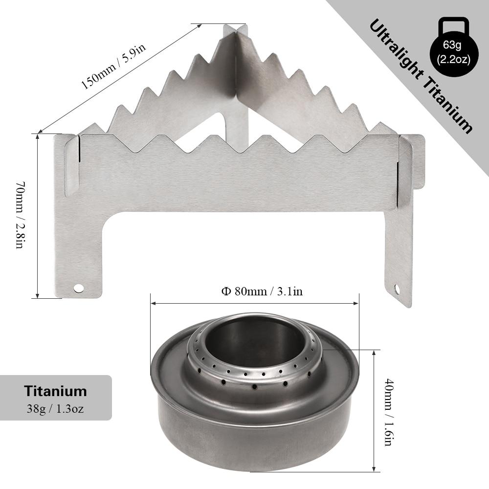 Outdoor Ultralight Folding Titanium Pot Stand with Aluminum Alloy Mini T6D4
