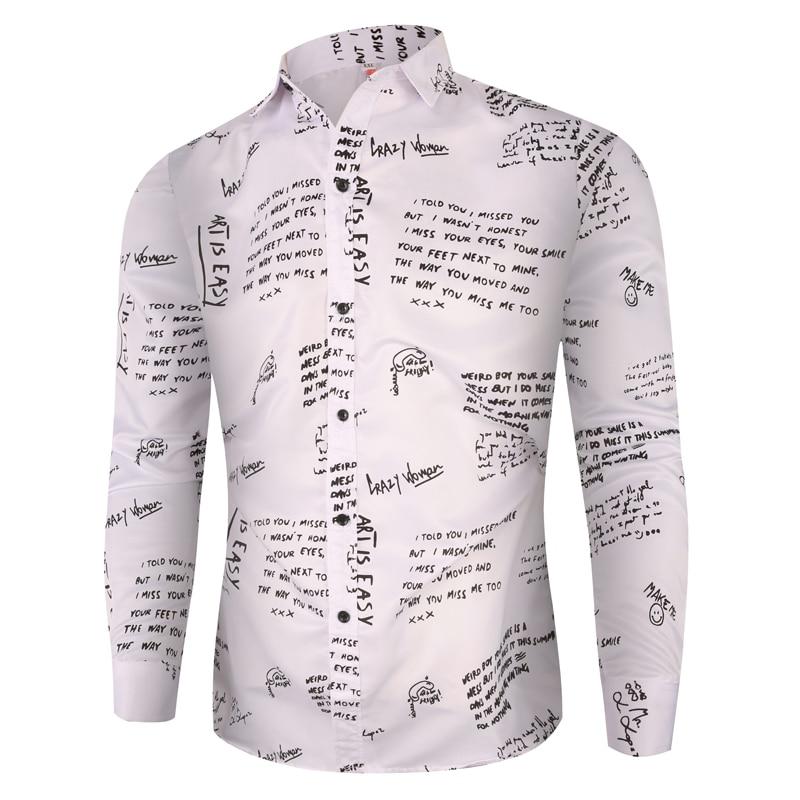Мужские рубашки с цветочным принтом, новейшие Гавайские мужские облегающие черные рубашки с длинным рукавом, весна 2020, новые мужские рубашк...