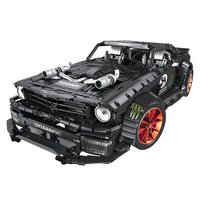 Building Block Sports Car Model Small Building Block Sports Car Model Assembling Racing Model Children's Educational Toys