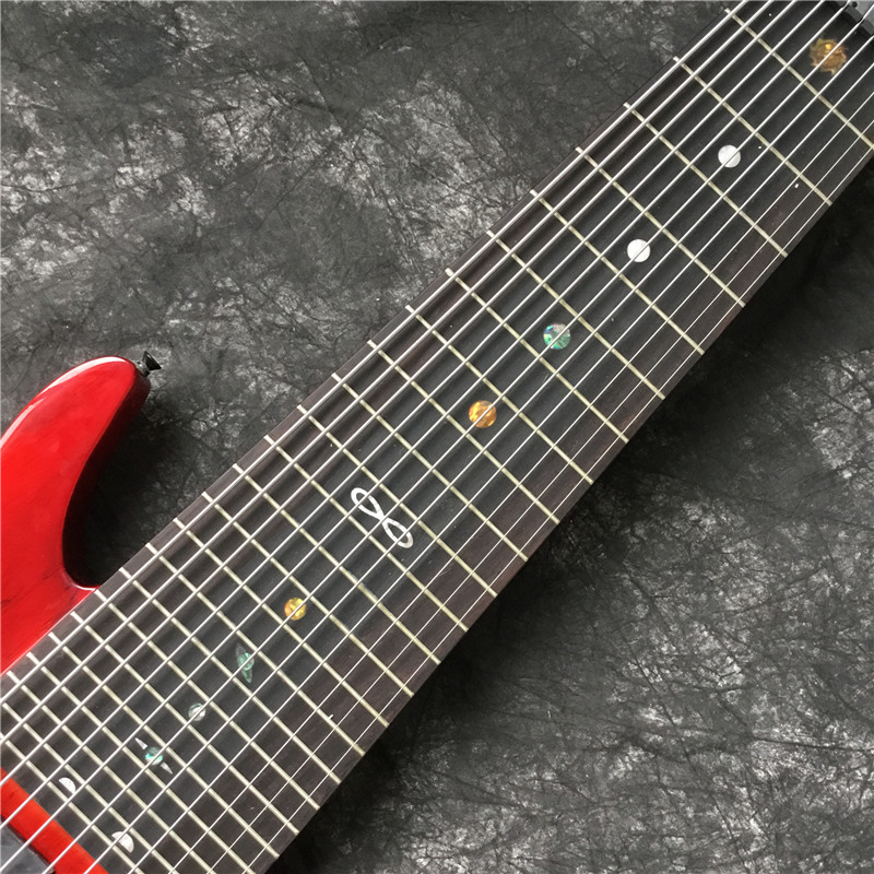 Высококачественная электрическая бас-гитара, красный, 11-строка электрогитара. Черная фурнитура. Хорошее качество звука. Классическое качество 5