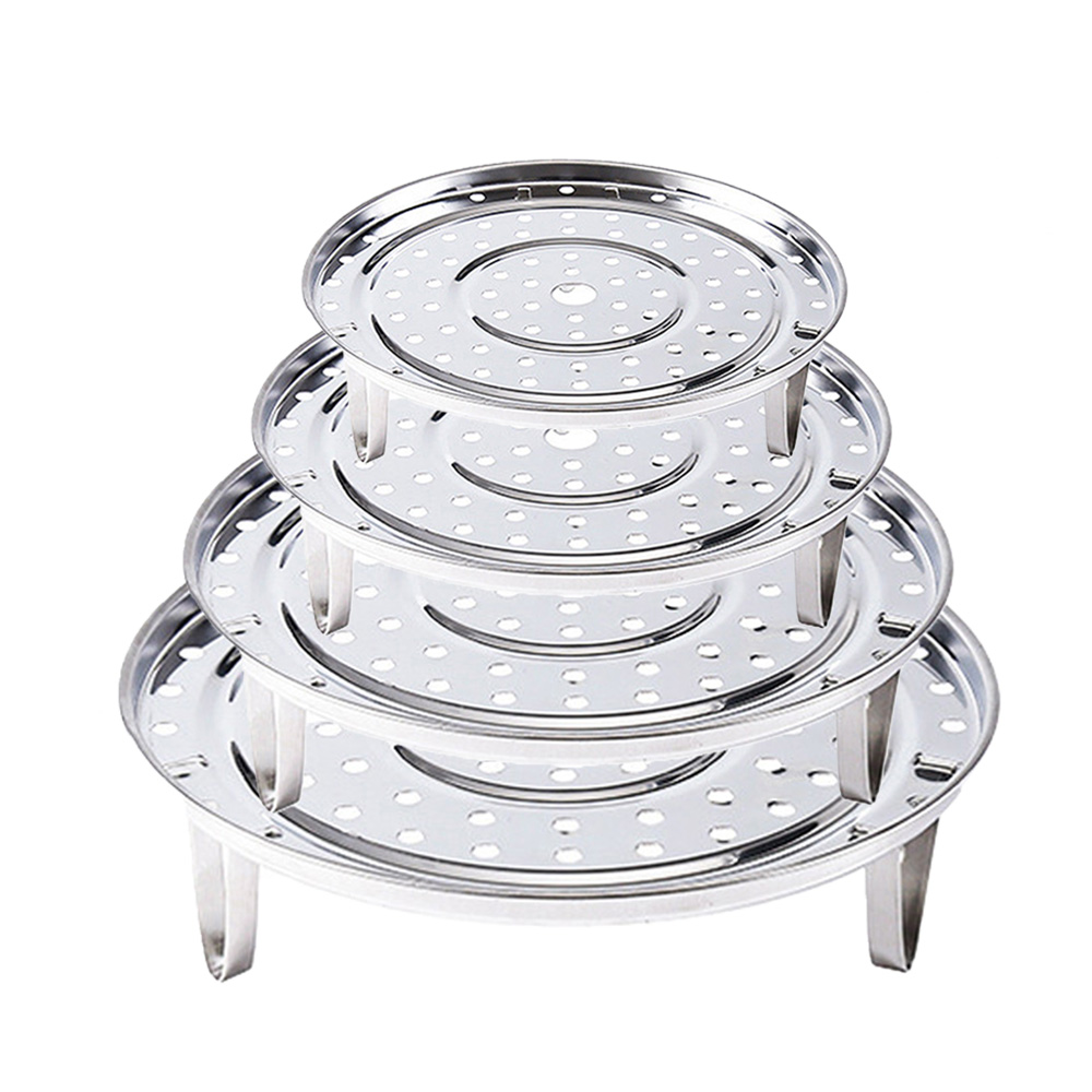 Stainless Steel Steamer Rack Set 5.5cm Home Kitchen Steaming Tray Stand Cooking Insert Stock Pot Tools