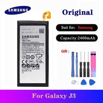 цена на Original Battery For Samsung Galaxy J3 2017 SM-J330 J3300 SM-J3300 SM-J330F SM-J330FN SM-J330G SM-J330L 2400mAh EB-BJ330ABE