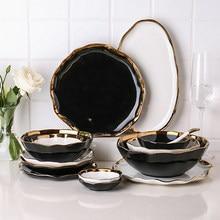 Criativo phnom penh cerâmica utensílios de mesa placa tigela de arroz do agregado familiar tigela salada placa vegetal placa rasa placa flavored