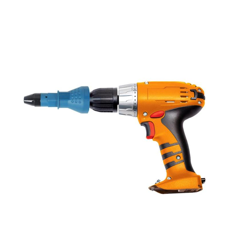 2.4mm-4.8mm Electric Rivet Nut Gun Riveting Tool Cordless Riveting Drill Adaptor Insert Nut Tool With Wrenches Power Tools