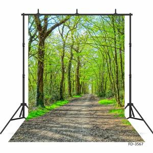 Image 2 - Spring Tree Pathway Green Photo Backdrops Photo Studio Vinyl Backgrounds Photography Props for Children Portrait Photobooth