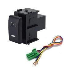1 قطعة DRL LED وقوف السيارات الرادار البطارية امدادات الطاقة القيادة شيل التدفئة الرؤية الخلفية مروحة التبديل زر لنيسان باترول Y62