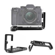 שחרור מהיר L צלחת אחיזת יד מחזיק Bracket עבור Fujifilm X H1 XH1 דיגיטלי מצלמה Arca השוויצרי חצובה ראש