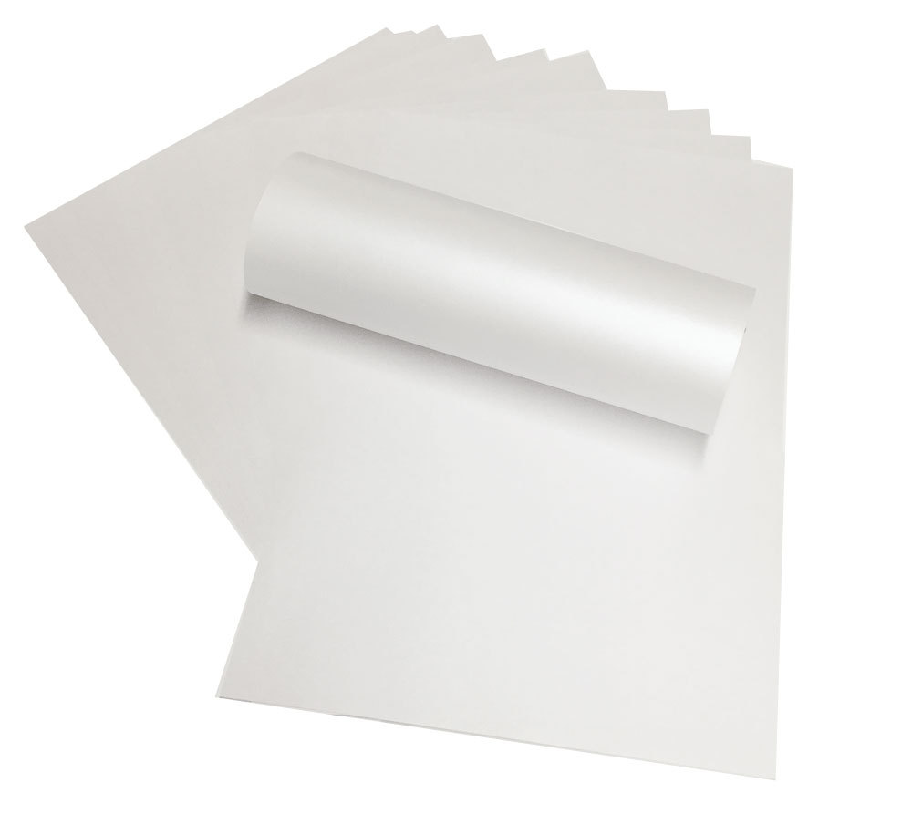 Size A4 160gsm White Metallic Shimmer Card Stock Paper For Art Craft 2/10/20/50 You Pick
