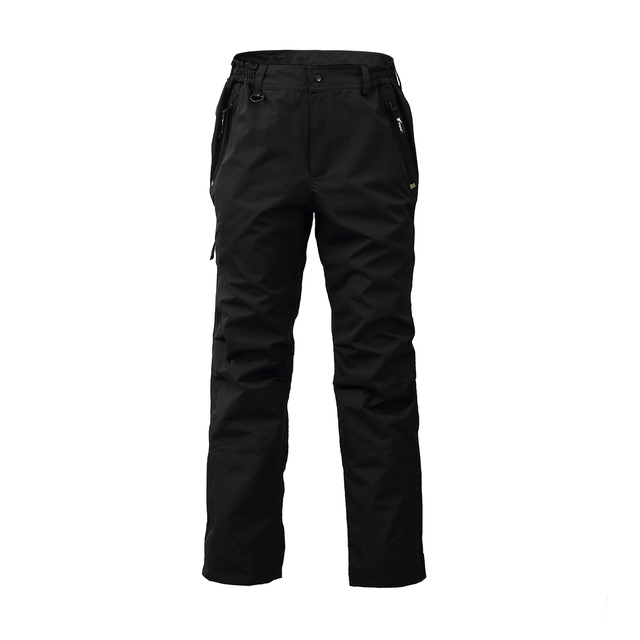 8 Fans 2 ply Fishing Hiking Trawler Pant with Pockets Outdoor Quick Dry Breathable Trouser for Men & Women Waterproof Black