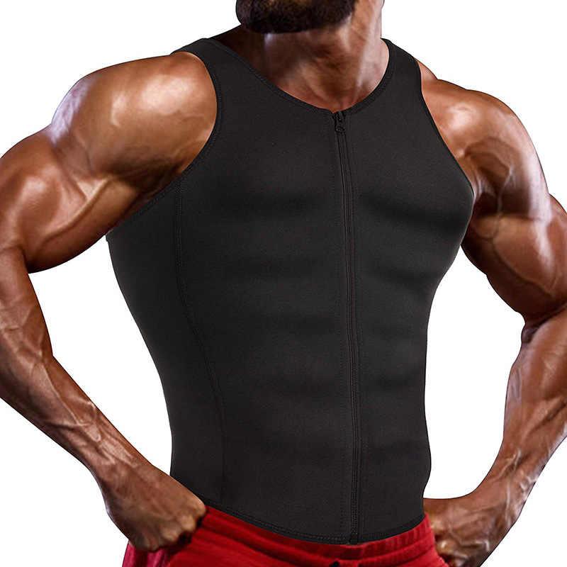 Erkekler için sıkıştırma gömlek kilo kaybı egzersiz fanilalar zayıflama yelek vücut şekillendirici bel eğitmen tankı üstleri Shapewear