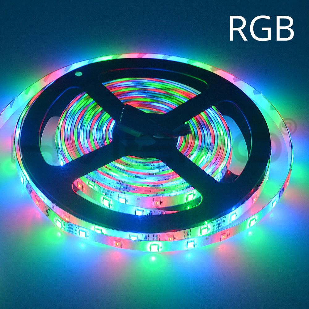 Hd25a7a1cde2b430abc9094994d3ca5972 - 5m 2835 3528 LED Strip Desk Lamp RGB White Red Green Blue Yellow 300Leds IR Remote Controller Holiday Light Night Garden Light