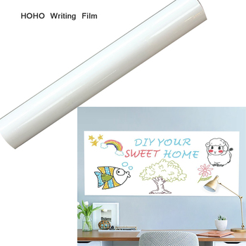 HOHOFILM 90cmx700cm White Dry Whiteboard Film Writing Board Wall Poster, PET Film House School home Use convenient