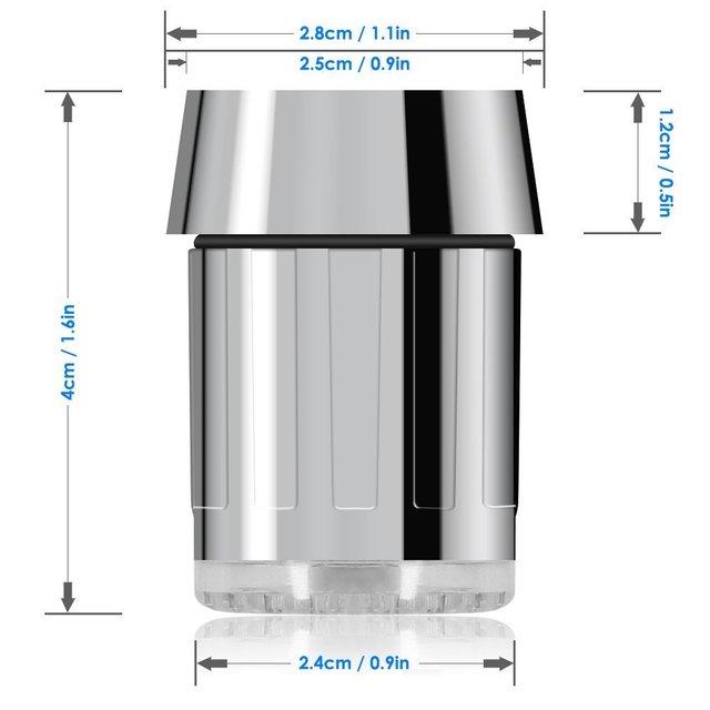Zhang Ji LED Temperature Sensitive 3-Color Light-up Faucet Kitchen Bathroom Glow Water Saving Faucet Aerator Tap Nozzle Shower 5