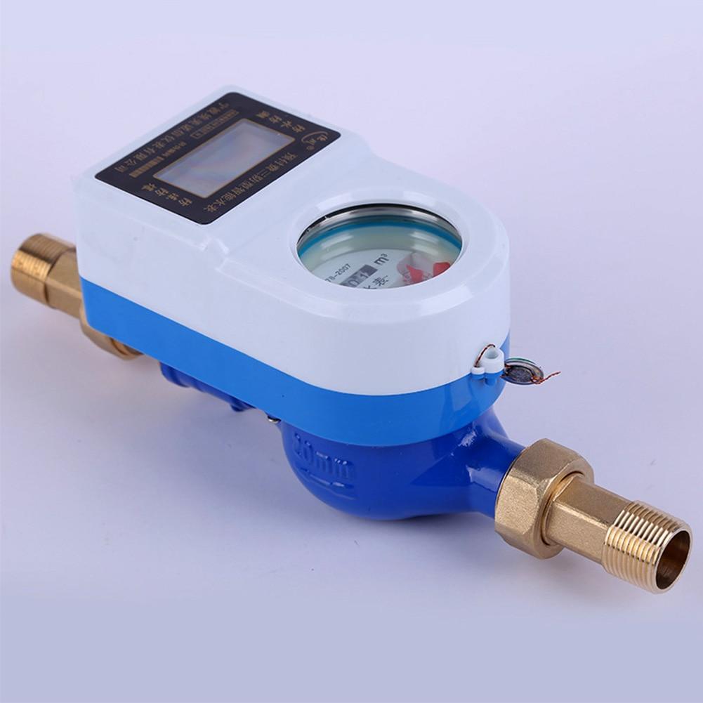 15mm étanche rotatif eau froide compteur robinet cuivre pivotant carte Table maison sans fil intelligent mesure compteur LCD affichage outils