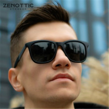 ZENOTTIC Wayfarer Polarized Sunglasses for Men Ultralight Sq