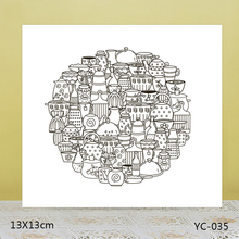 AZSG Cute teacup Clear Stamps For DIY Scrapbooking/Card Making/Album Decorative Rubber Stamp Crafts