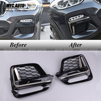 MSport Style Front Fog Light Cover Grille For BMW X3 G01/X4 G02 2018+ Front Fog Light Cover Grille Trim Accessories