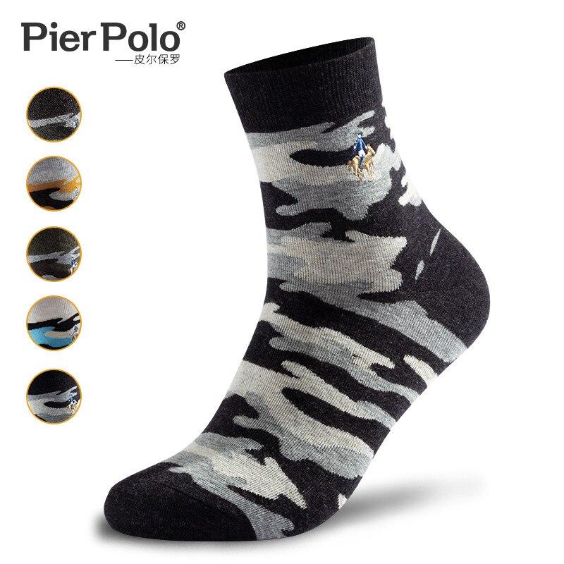 PEIR POLO, мужские военные носки, граффити, зеленый моряк, хлопковые носки, подходят для мужчин, стиль джунглей, зимние мужские камуфляжные носки