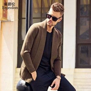 Image 3 - Enjeolon ماركة الشتاء طويلة الأكمام سترة مشغولة من الصوف معطف شتاء رجل الملابس الصلبة الملابس سترة حجم كبير MY3218