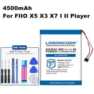 Losoncoer Voor Fiio X1 X5 X3 X7 I Ii Iii 2 3era Speler Li-Po Polymeer Oplaadbare Accumulator Pack vervangende Batterij 4500 Mah(China)