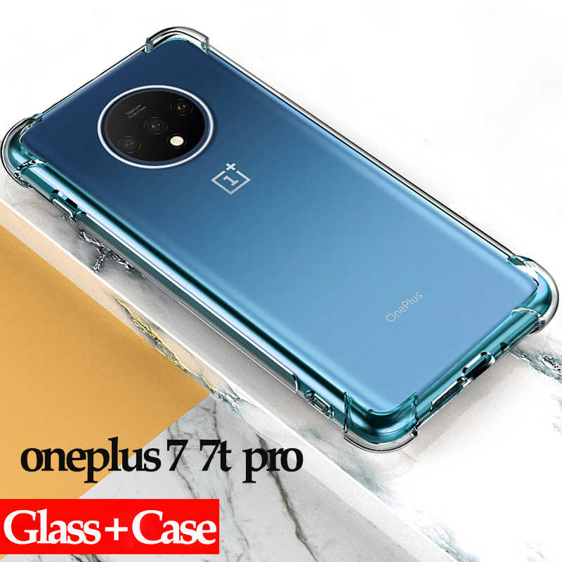 Anti-shock Shockproof Case For Oneplus 7 Pro 6 6T 5 Clear Soft TPU Cover For Oneplus 7 Pro 6T 5 6 One Plus 6 T Airbag Full Cover