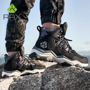 Image 2 - を RAX 男性登山靴の冬の防水屋外スニーカー男性革トレッキングブーツトレイルキャンプクライミングスニーカー革の靴