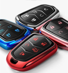 Image 2 - Hight Kwaliteit Pc + Tpu Key Case Cover Key Case Beschermende Shell Houder Voor Cadillac XT5/Atsl/Xts/XT4