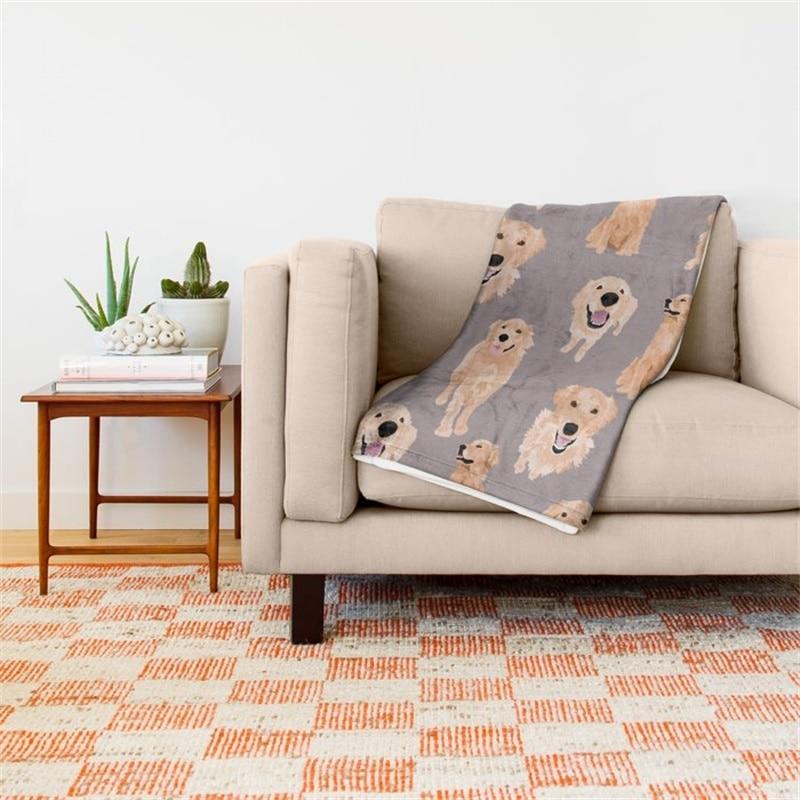 Golden Retriever Throw Blanket 42