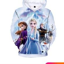 Children Clothing Sweatshirts Hoodies Tracksuit Toddlers Elsa Baby-Boys-Girls Kids Cartoon