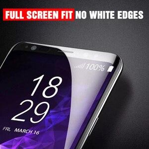 Image 3 - フル湾曲した強化ガラス三星銀河 S8 S9 プラス注 9 8 三星 S7 S6 エッジ S9 保護フィルム