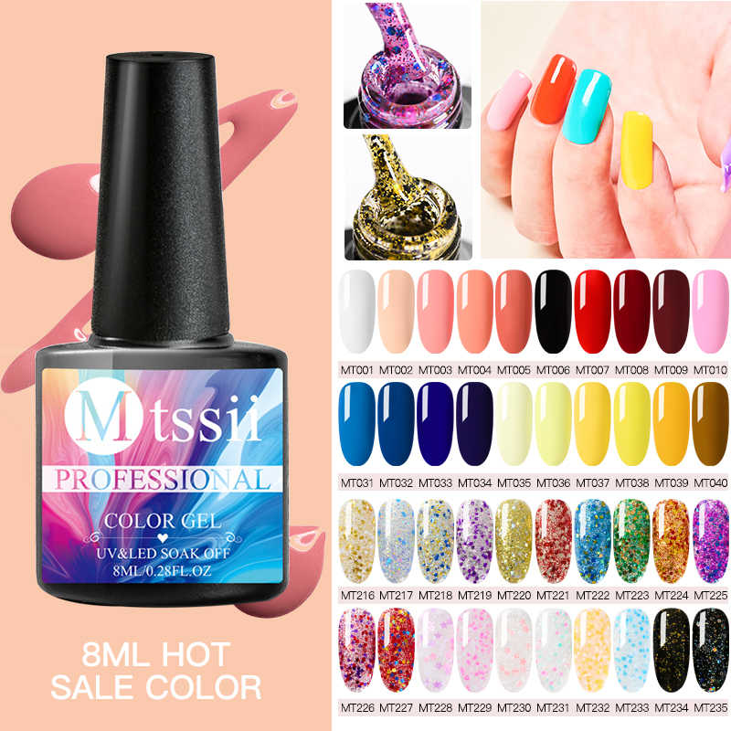 Mtssii Gel Nagellack Set Alle Für Maniküre Top Basis Mantel Semi Permanent Soak Off UV LED Nägel Gel Lack nail art Lack
