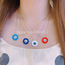 10Pcs,Women Necklace,Fashion Jewelry, CZ Setting,Pop Charms, Eyes Design, 4colors Can Wholesale