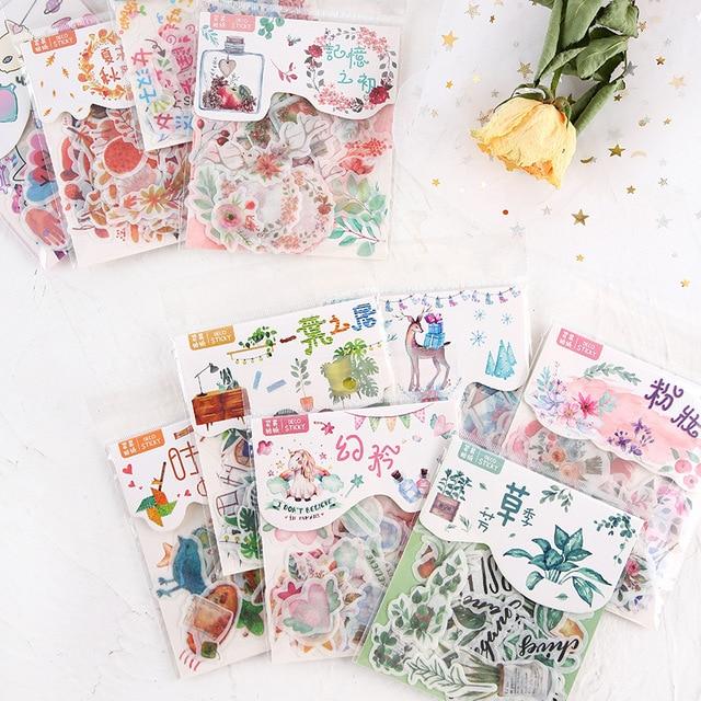 Momm Cat Flower Diary Deco Mini papel decorativo espacio calendario pegatinas bonitas Scrapbooking diario hojuelas papelería