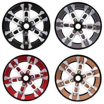 INJORA 4Pcs Metal 2.0inch Beadlock Wheel Hub Rims for 1/10 RC Crawler Car Axial SCX10 90046 SCX10 III AXI03007 TRAXXAS TRX4 2