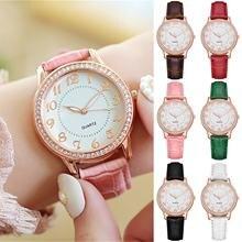 Женские роскошные Часы с бриллиантами модной ременной модные